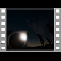 Solar Eclipse Wide Field Exposure Adjusted Telescope Overlay
